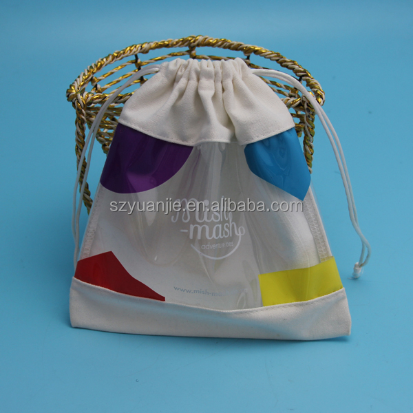 customize pvc coated cotton canvas shopping bag beach bag wholesale