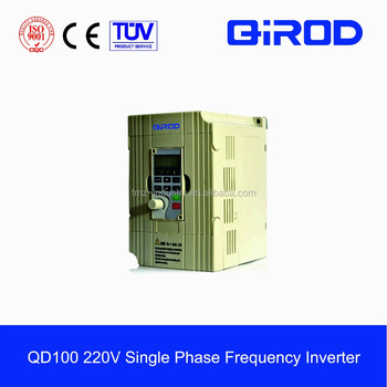 cheapest 220V single phase VFD 0.75kw 1.5kw 2.2kw variable frequency drive/frequency inverter