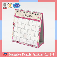 Custom New Model Cheap Standing 2015 Spiral Bound Calendar
