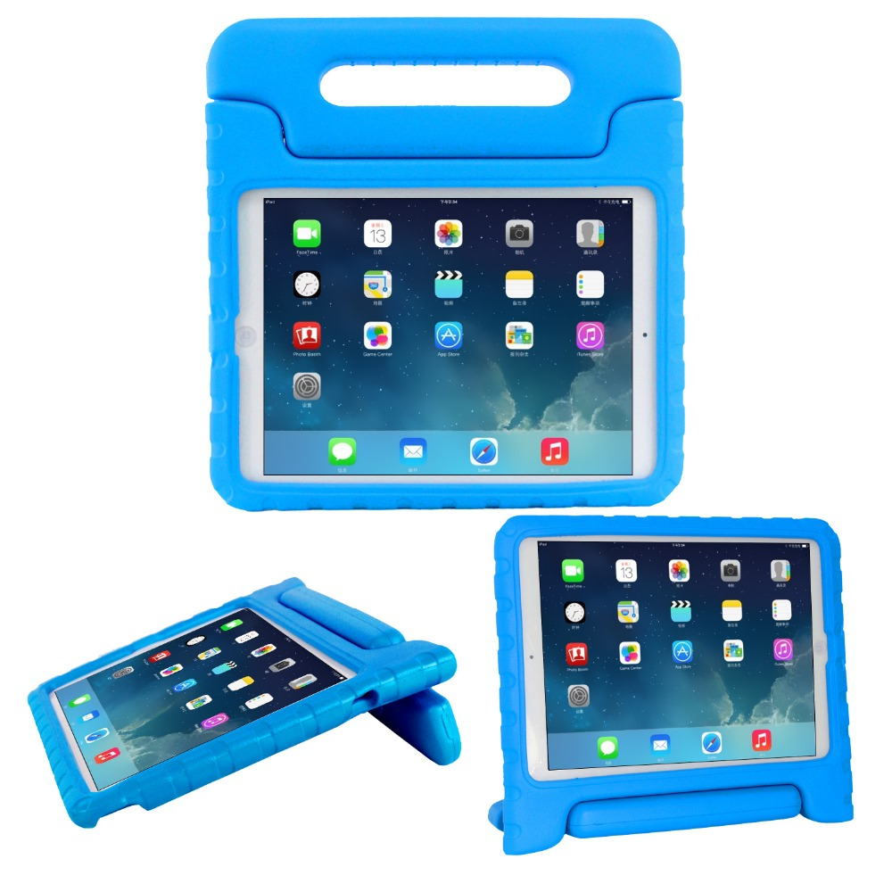 Durable eva foam convertible handle stand shockproof for apple ipad air 2 case
