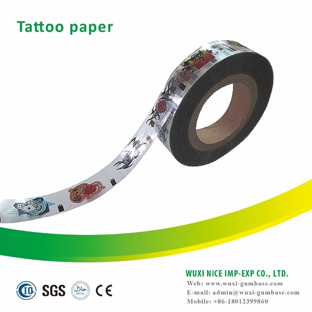 Different kinds of Transfer Tattoo Paper for bazooka bubble gum