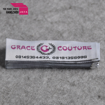 China   custom cheap woven clothing tag /garment woven label