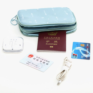 Hot selling travel passport key cash holder bags for travel