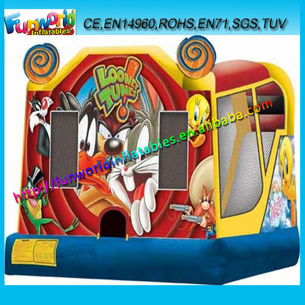2014 Looney Tunes Inflatable Cheap Bouncy Castles for Sale