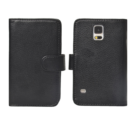 Wallet Case/Folio Leather Cover/Card Holder Phone Case for Samsung Galaxy S5 Lastest Smart Phones
