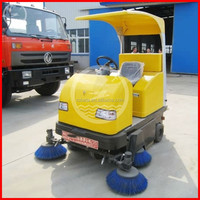 Double side brush warehouse sweeping machine