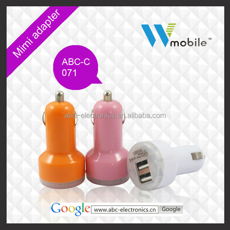 5V 2.1A Portable USB Car Charger mobile phone accessory wholesale