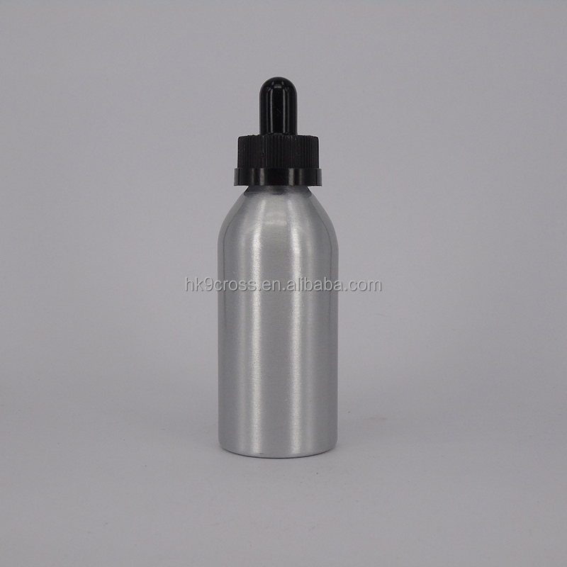 50ml aluminum e juice bottle dropper with childproof cap