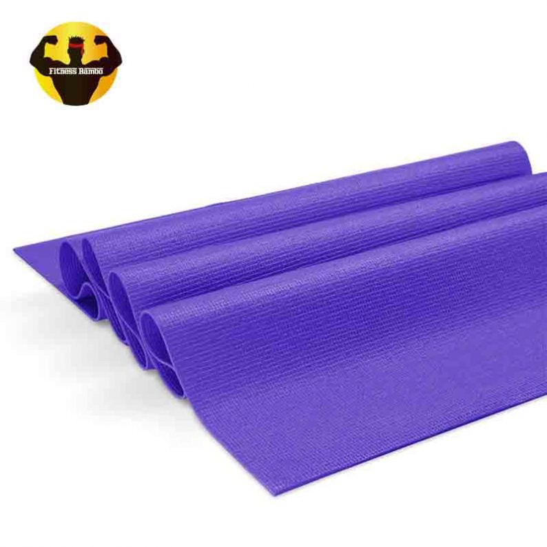 RAMBO Cheapest nontoxic blue yoga mat 5mm covers for earthing gymnastics
