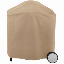 waterproof dustproof oxford 600D pvc coated beige 12571 round BBQ grill cover