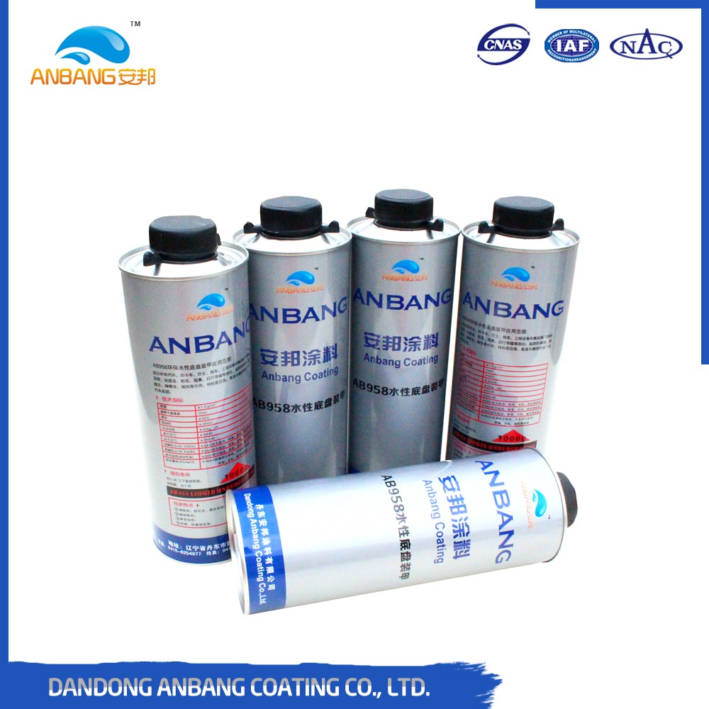 Long term easy operating car chassis anti corrosive protecting water based armor paint