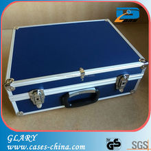 China professional factory blue aluminium tool case with EVA foam