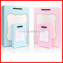 Beatiful Fresh Design Light Color Paperboard Packaging Gift Bag Wholesale