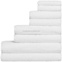 Luxury hand face bath organic white woven 100% cotton terry towel
