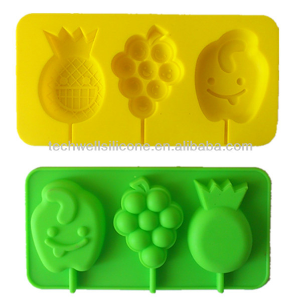 Colorful exclusive silicone fruit cake baking pans
