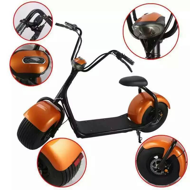 18*9.5 car tyre citycoco harley style scrooser 1000w brushless mobility scooter for adult electric chopper motorcycle