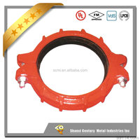 FM/UL ductile cast iron grooved pipe coupling clamp