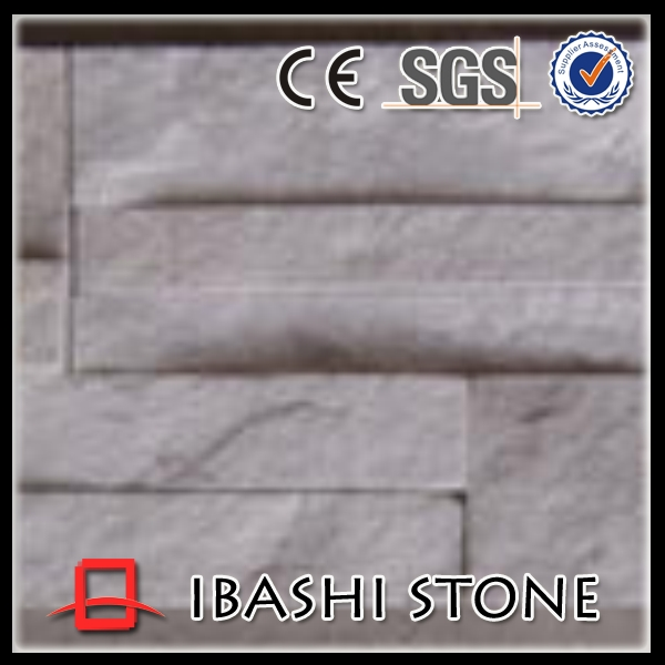 Chinese natural white slate stone wall