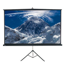 "200"" 4:3 Snowhite Fully Black Backed Front Projection Screen With Textured Surface Tripod Screen"