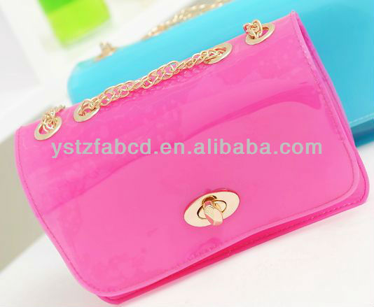 2013 cheap beautiful ladies silicone handbag,ladies jewelry tote bag,silicone beach bag