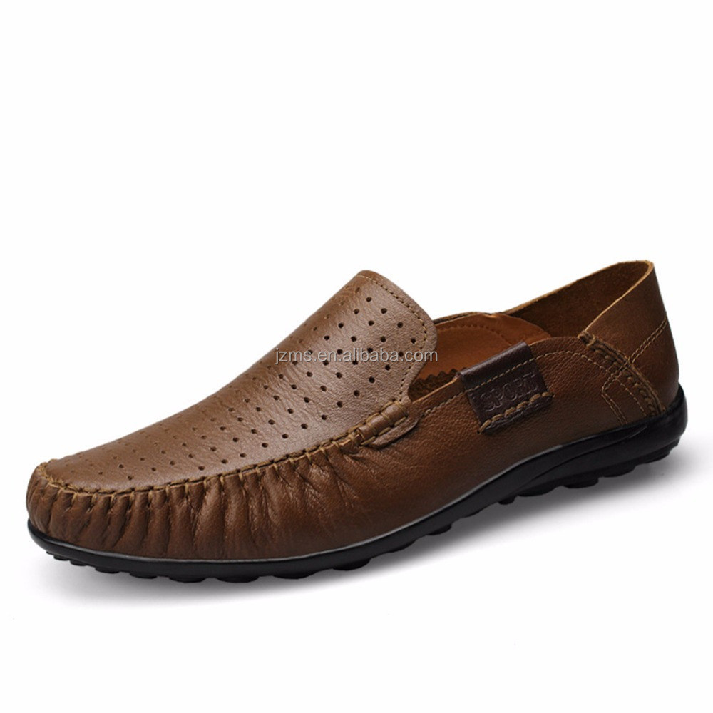 Shenn Mens Soft Genuine Leather Penny Shoes
