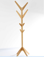 2015 new design bamboo clothes tree,clotes rack ,small furniture with nature bamboo wholesales Bamboo Cloth and hat Hanger Stand