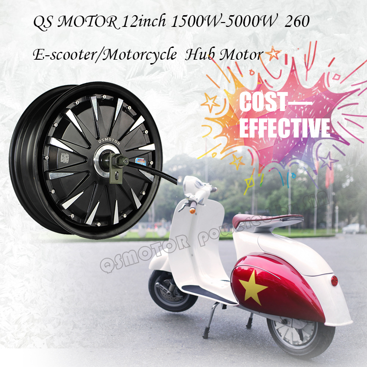 quanshun 12*3.5inch 1500W 48V 55kph BLDC E-Scooter Hub Motor Kits Power Train with EM50SP controller for electric motorcycle