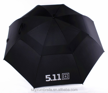 Vented 50+ UV Golf Umbrella, Wind resistant promotional vented umbrella business golf umbrella