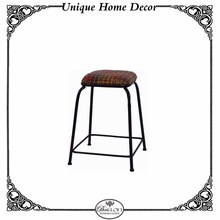 European Style Series Wood And Metal Chair Furniture Colorful Wool Bar Stool Design