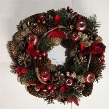 New products home wall decoration christmas wreath with decorations