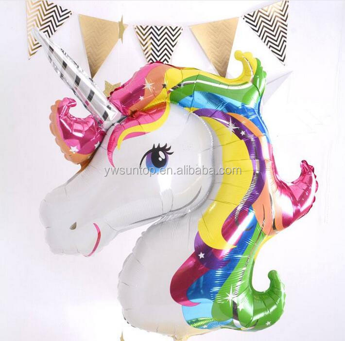 Hot Sale Beautiful Unicorn Shape Aluminum Film Balloon Party Decoration Baby Shower Supplies