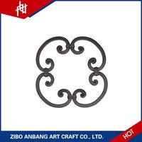 Cast iron flower rosettes for baluster