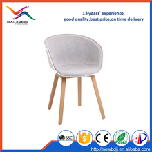 comfortable plastic armchair with fabric leisure chair with polywood legs XH-8320