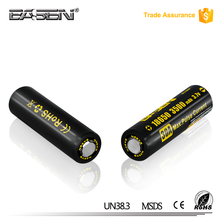High capacity Basen 18650 3500mah 30a battery 3.7v alibaba best seller 18650 3.7v lithium ion rechargeable battery for box mod