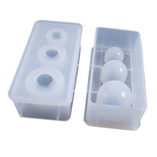 Resin Casting Molds Jewelry Star ball <strong>mould</strong> 25 20 15mm ball sphere round silicone mold