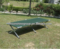Portdable aluminum military bed army cot with 600D carrying bag