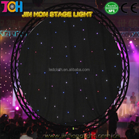 Festive & Party christmas light supplies White Fireproof Velvet fabric backdrop rgb led lighting star decoration curtain