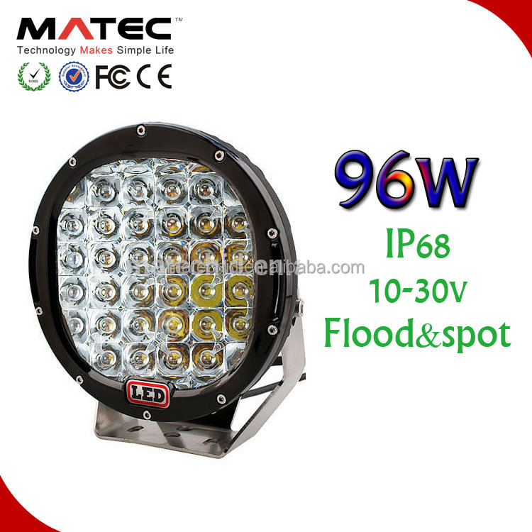96W LED WORKING LIGHT 10v-30v Car accessory Led working lamp tractor bus train Led work lighting