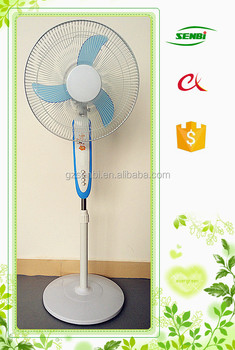High quality indoor use 16inch 18inch 12 volt electric motor fan stand fan