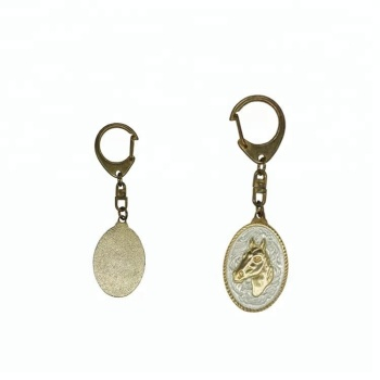 custom Europe 3D antique gold plating metal keychain with keyring