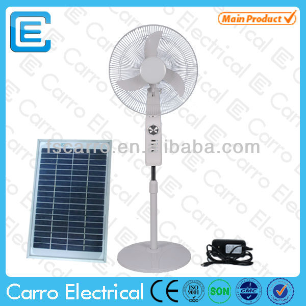 12v standing industrial electric stand fan DC-12V16C2 with USB charger