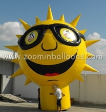 2015 Outdoor inflatable sun mascot ground giant balloon N2108