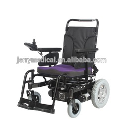 Battery operated handicapped high back reclining electric wheelchair