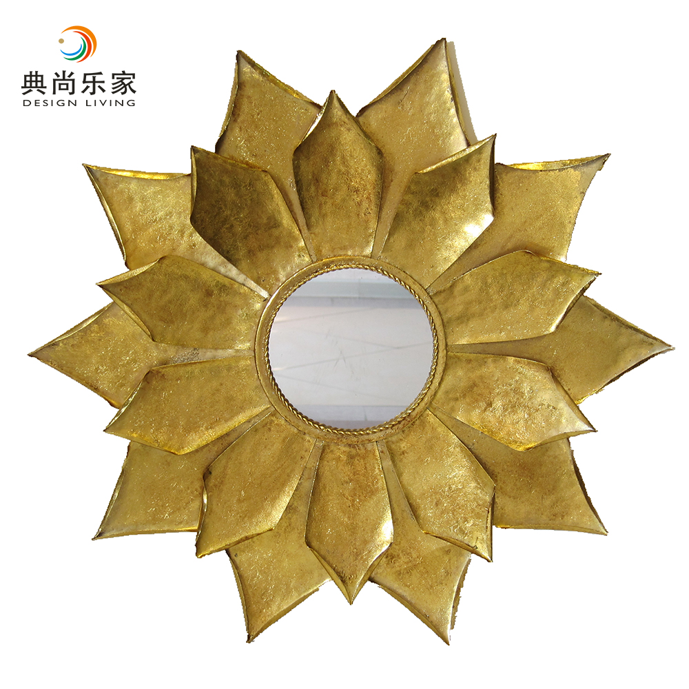 Gold Silver Bronze Antique Round Flower Shape Large Wall Mirror ...