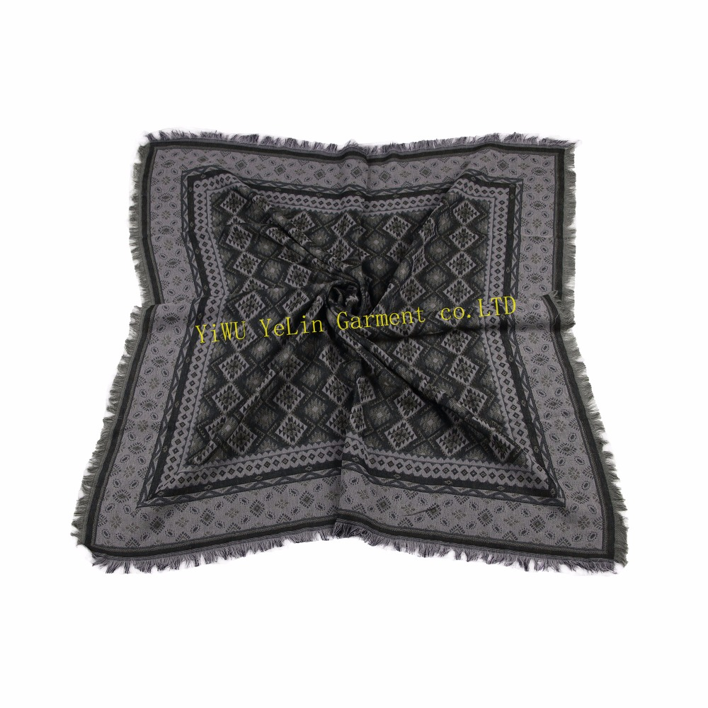 Neodesign fashionable colorful good character wholesalers multipurpose lace yarn dyed polyester cotton square scarf