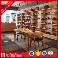Factory direct sale custom made wood shoe display cabinet