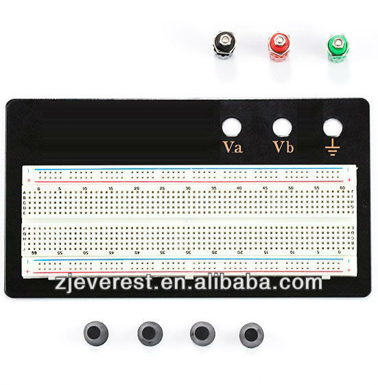 Wholesale electronic component, 830PTS Soderless Breadboard with Black plate