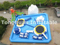 inflatable mobile amusement park with pool