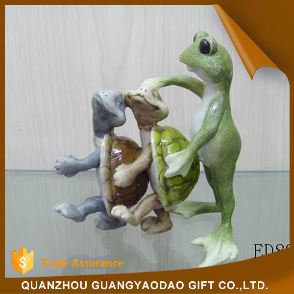 Funny discount garden statues animal sculpture resin figurine