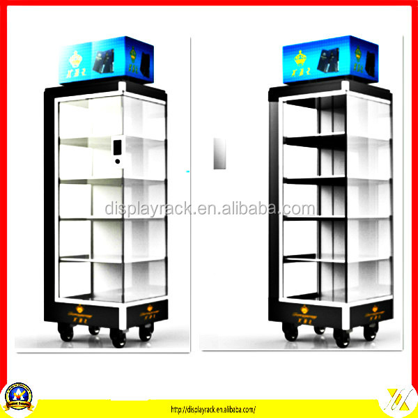 Fashion acrylic shelf mobile phone display cases for stores